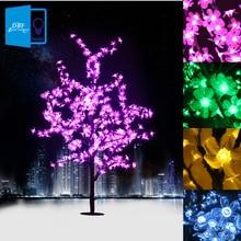 1.5 M 1.8 M LED Luces Del Árbol de flor de Cerezo de Cristal Decorativo Árbol de Navidad año Nuevo Luminaria Lámpara Paisaje Iluminación Al Aire Libre