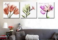 3 unidades la Pintura Abstracta de Colores Flor de pared de lona Arte HD imprime imagen modern home decor sala cartel de obra de arte sin marco