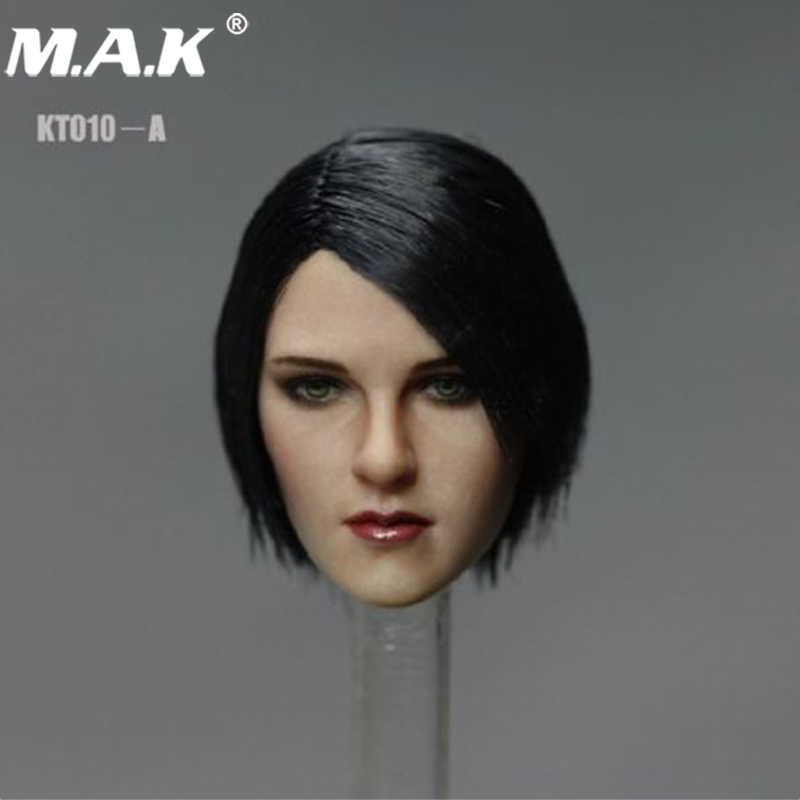 KT010-A 1:6 Scale Female Short Black Hair Head sculpt for 12 inches Action Figure 1 6 scale the game of death bruce lee head sculpt and kungfu clothes for 12 inches figures bodies