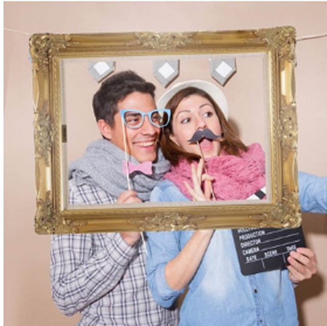 newcomdigi Vintage Frame Photo Booth Prop Background for Wedding ...