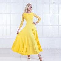 Modern Dance Dress Long Sleeve Ballroom Dance Costume National Standard Dance Dress Waltz Dress Performance Clothing
