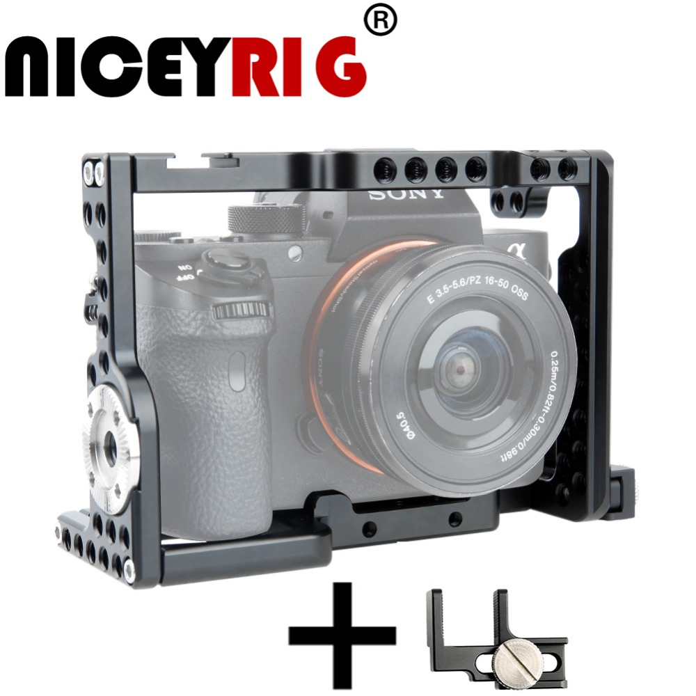 NICEYRIG for SONY A7 A7S A7R Photography dslr Camera Cage Camera Handle ARRI Rosette Mount HDMI Cable Clamp Camera Accessories