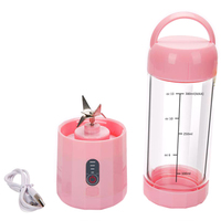 Personal Portable Blender With 480Ml Travel Bottle,Served Smoothie Blender Six Blades In 3D Superb Mixing Personal Size Mixer