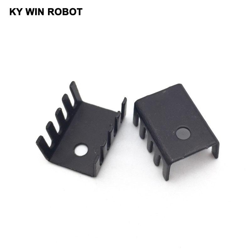 10 pièces noir 15*10*20 MM Triode Dissipateur De Chaleur 10*15*20 MM À-220 TO220 Transistor Radiateur En Aluminium Dissipateur Thermique Refroidisseur Refroidissement 20*15*10 MM