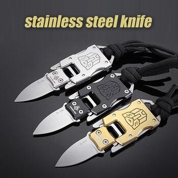 Cuchillo de acero inoxidable edc herramienta multi mini bolsillo cuchillo táctico plegable...