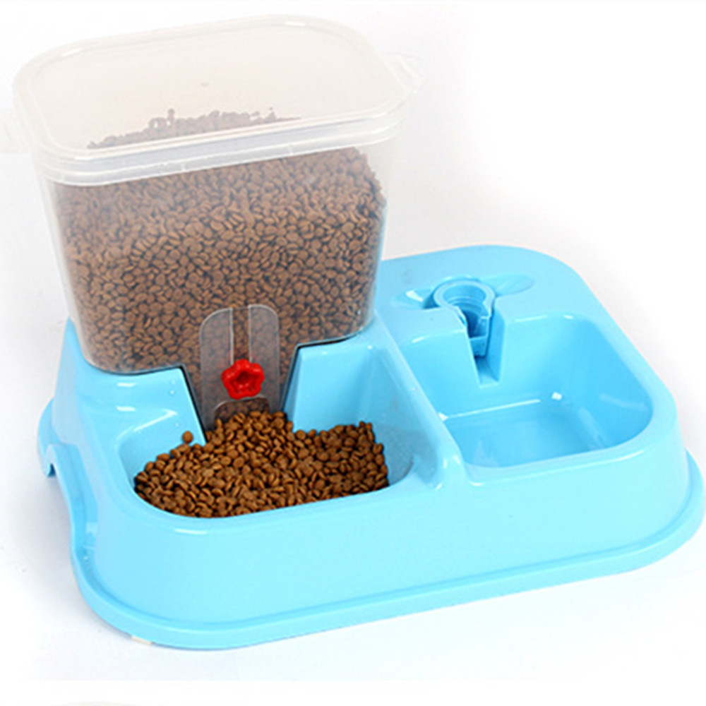 3.75L Cats Dogs Automatic Pets Feeder Self-Dispensing Gravity Dog Water Food Dispenser Bowl Pet Feeder And Automatic Drinkers