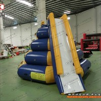 0.9mm PVC Swimming Pool Water Game Inflatable Climbing Water Tower Floating Slide