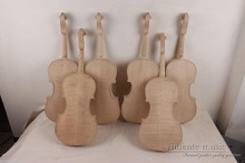 4 pcs New 4/4 unfinished violin flame maple back ,Russian spruce top.