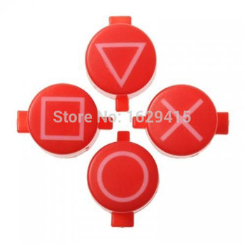 Solid Symbols Face Buttons Replacement Set Custom Kit For Playstation 4 PS4 PS3 Controller Triangle Circle Square X circle
