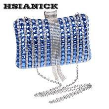2017 damen Grün Glas Diamant Design Handtasche Exquisite Bankett Sterne Abendessen Handtasche Nacht Shop Abend Party Hochzeit Kupplung
