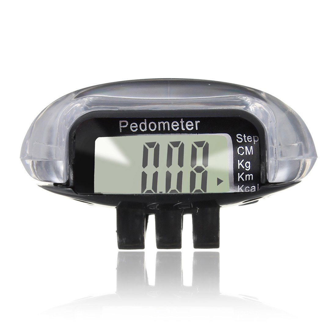 LCD Digital Multi Pedometer Walking Step Distance Calorie Counter Run Fitness - Black
