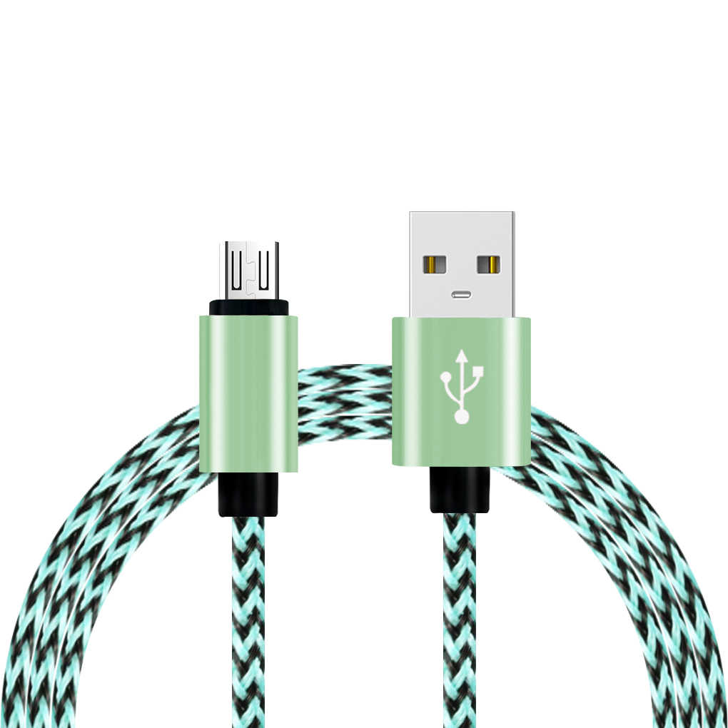 Universal 0.9m náilon trançado de carregamento rápido cabo carregador usb do telefone móvel para samsung para xiaomi para lg para huawei