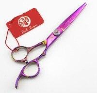 Purple Dragon 6 inch Original Professional Hairdressing Scissors Hair Cutting barber shears thinning tesoura de cabeleireiro