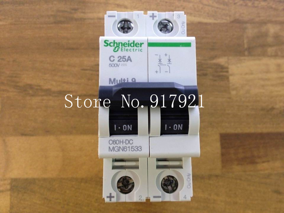 [ZOB] MuIti 9 original C60H-DC C25A 2P25A DC circuit breaker MGN61533 --5pcs/lot dhl eub 5pcs new original for schneider c65n dc 1p c40a breaker 15 18
