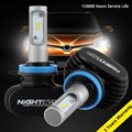 Nighteye 8000LM LED H11 Faros de Conducción Faros de niebla Bombillas de Repuesto Kit de 6500 K