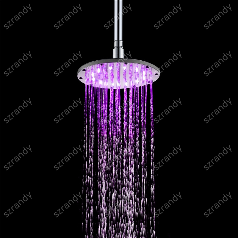 250mm brass Round material 10 inch chrome plated LED bathroom rainfall shower Head chrome plated brass physical optics saccharimeter refract meter 0 80