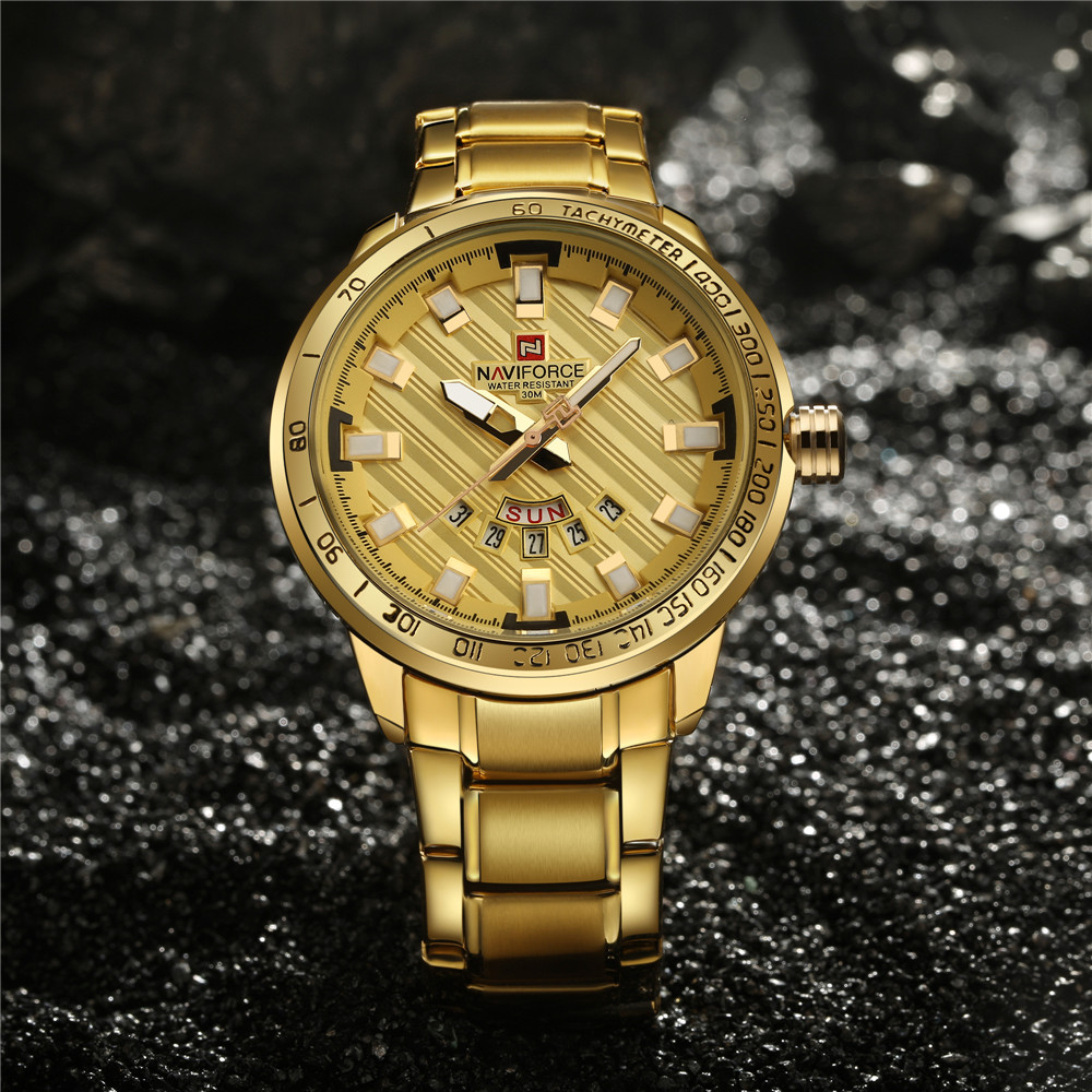 NAVIFORCE®™ LUXURY Golden Watch 1