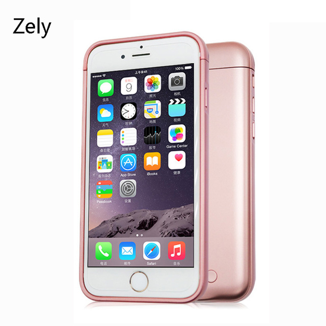 Zely 7600mah Backup Battery Charger Case Cover for iPhone 6Plus 6splus Power Bank Back Clip Battery Charging Case for iPhone 6s