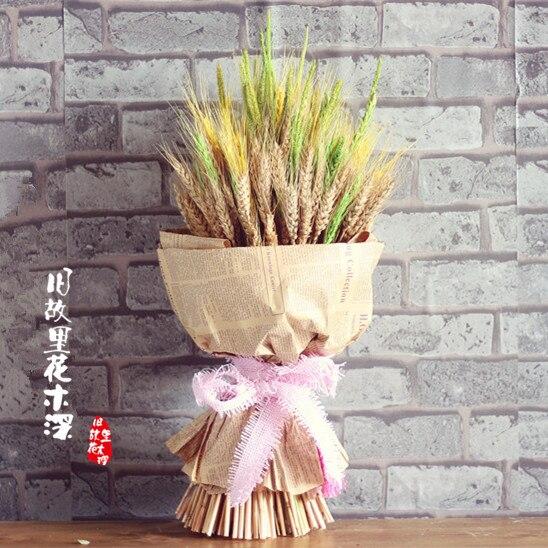 Wind Weht Weizen Wellen Verkaufs Natur Getrocknete Blumen