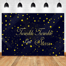 Neoback Background for Photo Twinkle Little Stars Baby Shower Birthday Party Booth Backdrop Studio