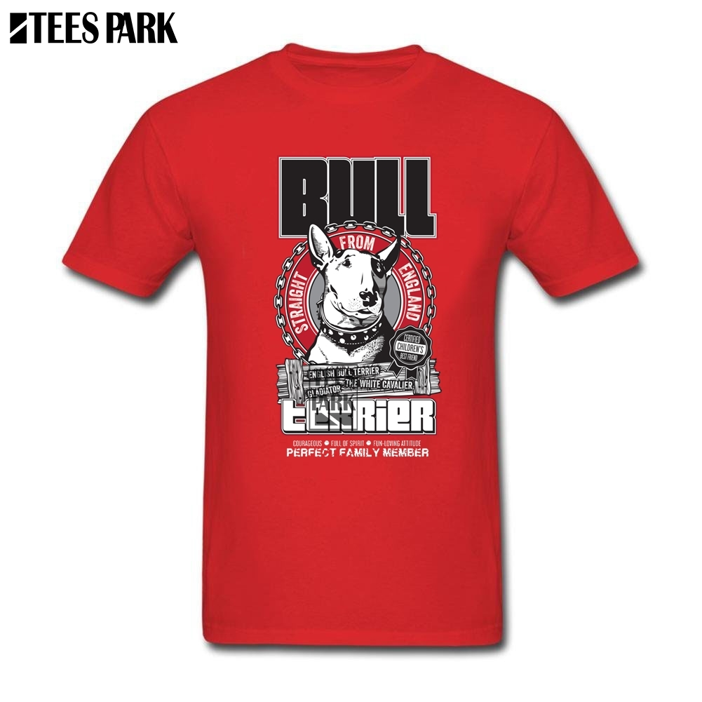 Men Tee Shirts English Bull Terrier T Shirt Man Cotton