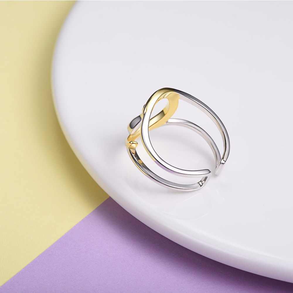 U7 кольца из стерлингового серебра 925 Кот сидящий на Луне женское Подарочное кольцо с регулировкой размера животное кошка Стерлинговое серебро ювелирные изделия SC08