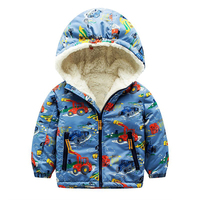 Baby Boys Jackets 2017 Brand Kids Hooded Wollen Winter Down Jackets For Boys Clothes Character Children