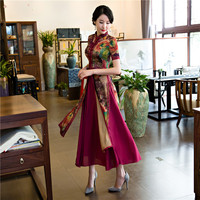 Shanghai Story New Sale Spring Aodai Vietnam Cheongsam Dress For Women Traditional Clothing ao dai Set Long qipao