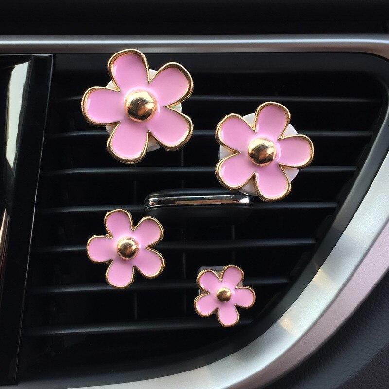 JOORMOM four Daisy car vent, зажим для парфюма, милый автомобиль ароматерапия, Креативные аксессуары для автомобиля для девочек, интерьер