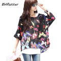Big Size Blusas 2017 Boho Style Women Chiffon Blouse Floral Print Summer Tops Shirt for Women Clothing 4XL Chiffon Shirts