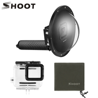 SHOOT Waterproof 6 inch Underwater Dome Port Lens for GoPro 7 6 5 Black Camera Dome With Float Bobber for Go Pro 6 5 7 Accessory
