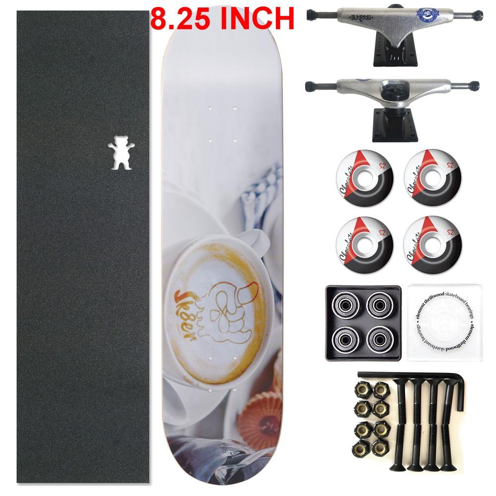 Image 2 - SKATER 1 Set Pro Quality Complete Skateboard Deck 8.25 inch Skate Board Wheels & Trucks Double Rocker Skateboard Parts-in Skate Board from Sports & Entertainment