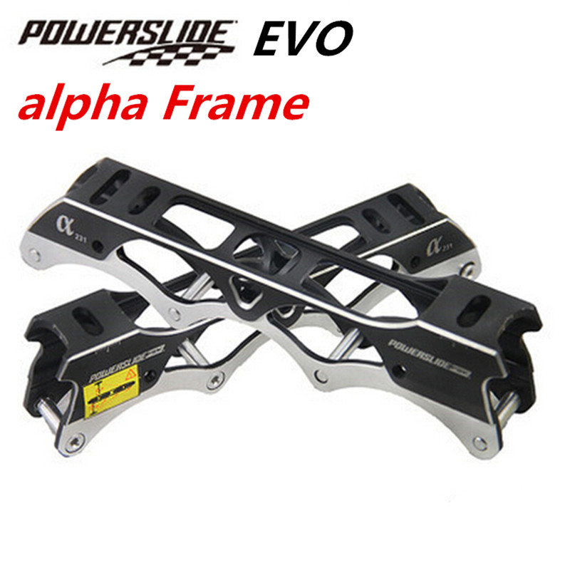 [Alpha Plane&Rocking Frame] 100% Original PowerSlide EVO Alpha Inline Skate Frame, 219mm Rocking 231mm 243mm Plane Skating Base [7000 aluminium alloy] original vortex inline speed skate frame base for 4x110mm 4x100mm 4x90mm skating shoe bcnt sts cityrun