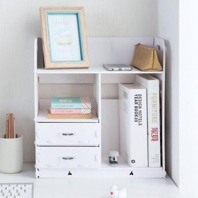 Bagno di casa Desk Organizer Libro di Legno Per Ufficio Titolare Accessori Da Scrivania File Cabinet Con Cassetto-in Set da scrivania da Articoli per scuola e ufficio su  Gruppo 1