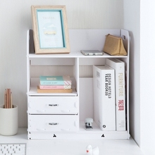 Home Bathroom Desk Organizer Wooden Book Holder Office Desk Accessories File Cabinet With Drawer