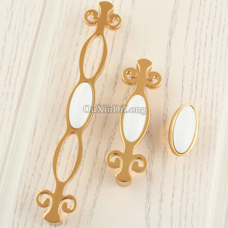 NEW 10PCS European Ceramic Kitchen Door Furniture Handles Cupboard Wardrobe Drawer Dresser Wine Cabinet Pulls Handles and Knobs