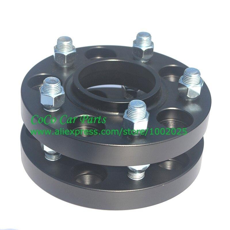 (2 Stks/partij) Pcd 5x120 Cb 72.6mm Dikke 20mm Gesmeed Aluminium Wiel Spacer Adapter 5 Lugs Wiel Spacer Zwarte Kleur