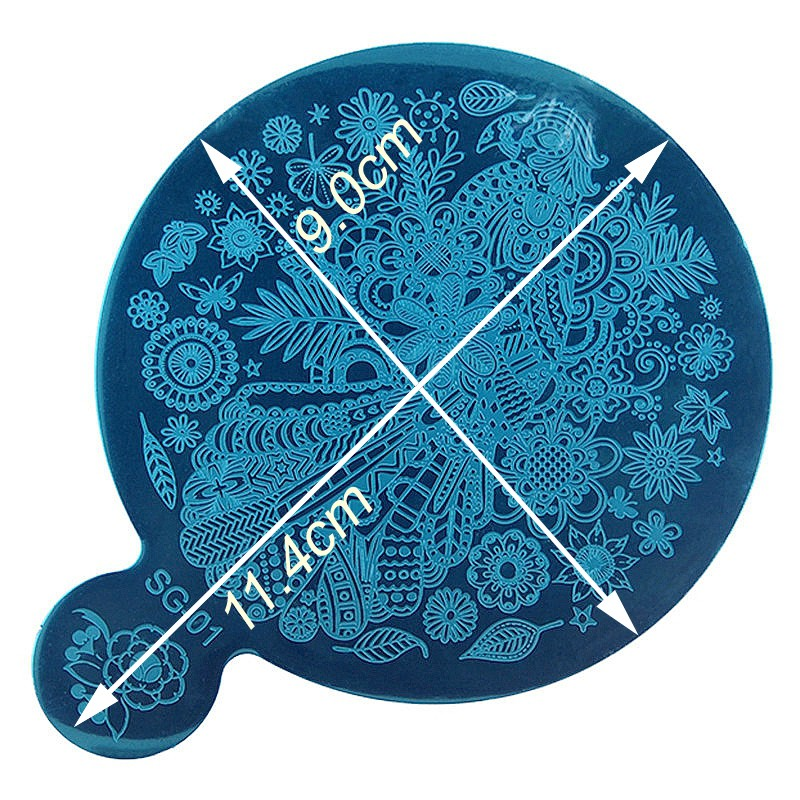2017 new 15PCS nail art stamping plates manicure nail decoration supplies tools nail stamp plate flower lace pattern
