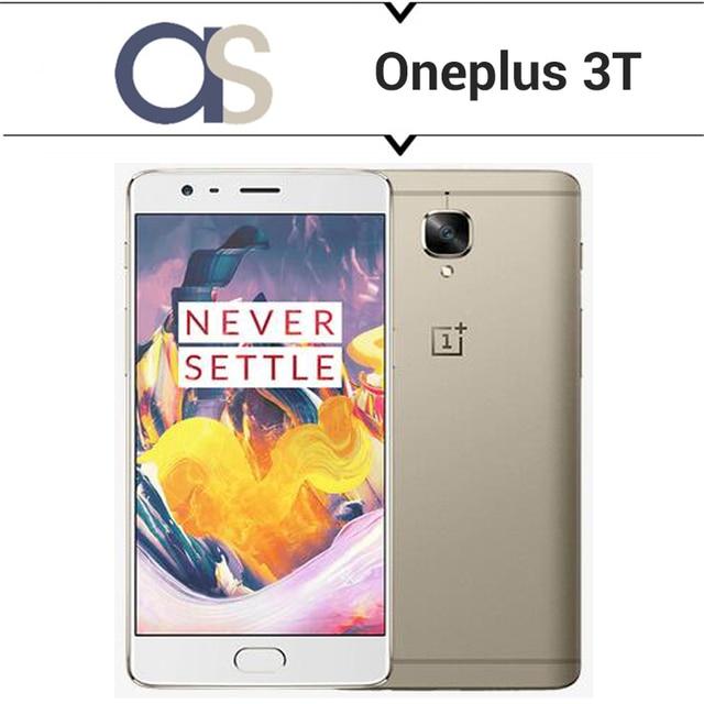 Оригинал Oneplus 3 T 4 Г LTE Сотовый Телефон 5.5 Дюймов 1080 P 16MP камера Snapdragon 821 Четырехъядерных Процессоров 6 Г RAM 64 Г ROM Быстрая Зарядка отпечатков пальцев