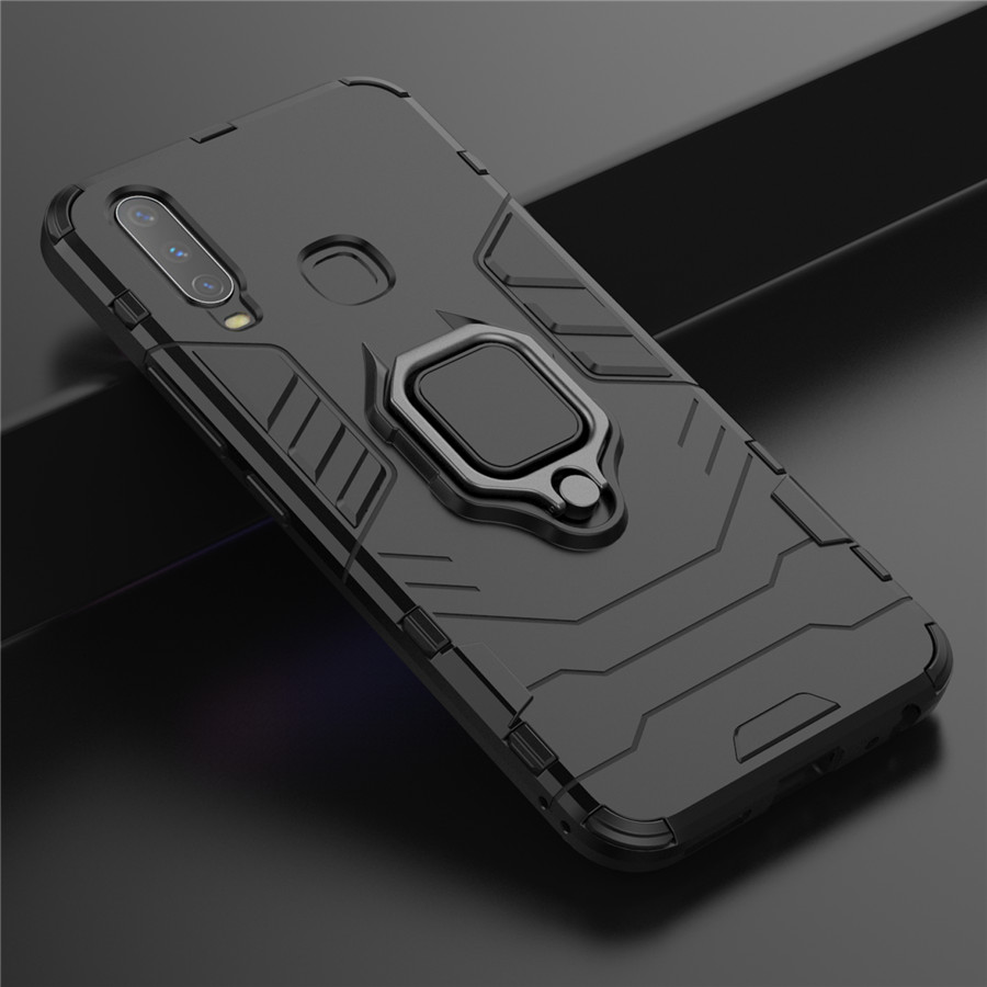 Armor Ring Phone <font><b>Case</b></font> for <font><b>Vivo</b></font> X23 X27 V11 V15 Pro <font><b>Y15</b></font> Y17 Y91 Y95 Y97 iQOO V11i Shockproof Hybrid TPU Silicon Cover Funda Coque image