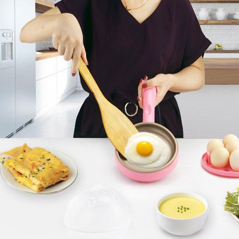 Hot Multifunzione Domestica Mini Uovo Frittata Pancake Elettrica Fritto Bistecca Padella antiaderente Uova Sode Alta Qualità HY99 JU01