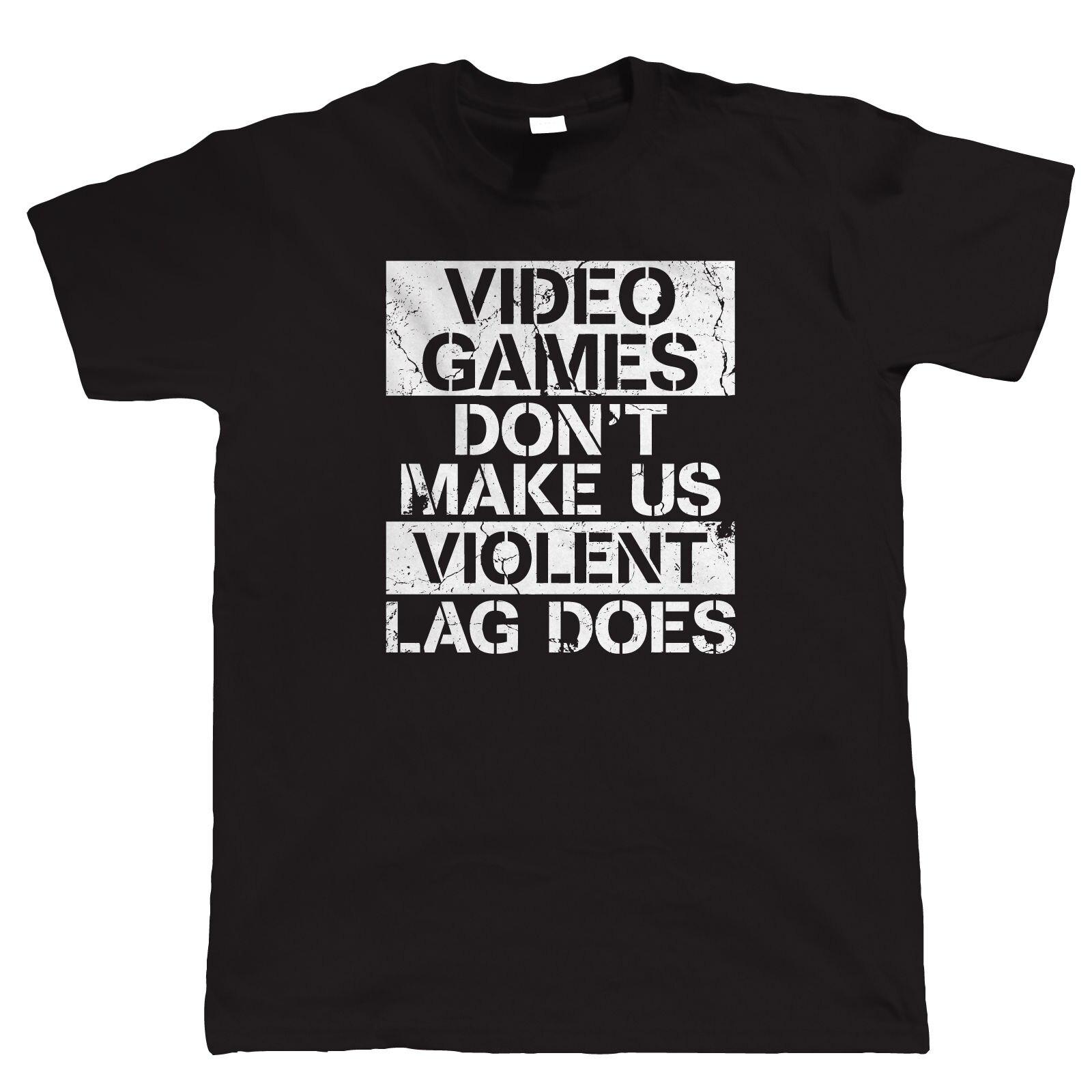 Футболка Магазин Видеоигры не делают нас насильственные геймер PC Gamer кадров в секунду Видео игры с круглым вырезом Высокий Футболка Для муж...