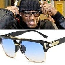 CHUN R20 Retro Flat Top Men Square Sunglasses Brand