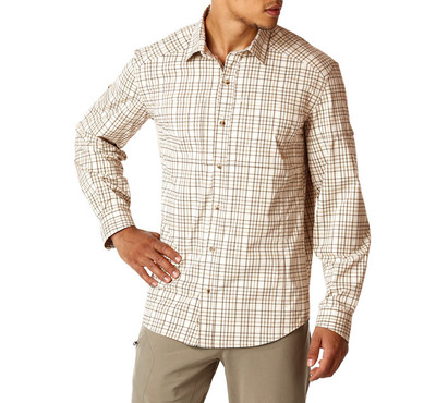 ФОТО 2016 New Men Plaid Long Sleeve Shirt Teck Shirts Rei Outdoor Quick-drying Plus USA Size UPF50+ Breathable Brand Promotion