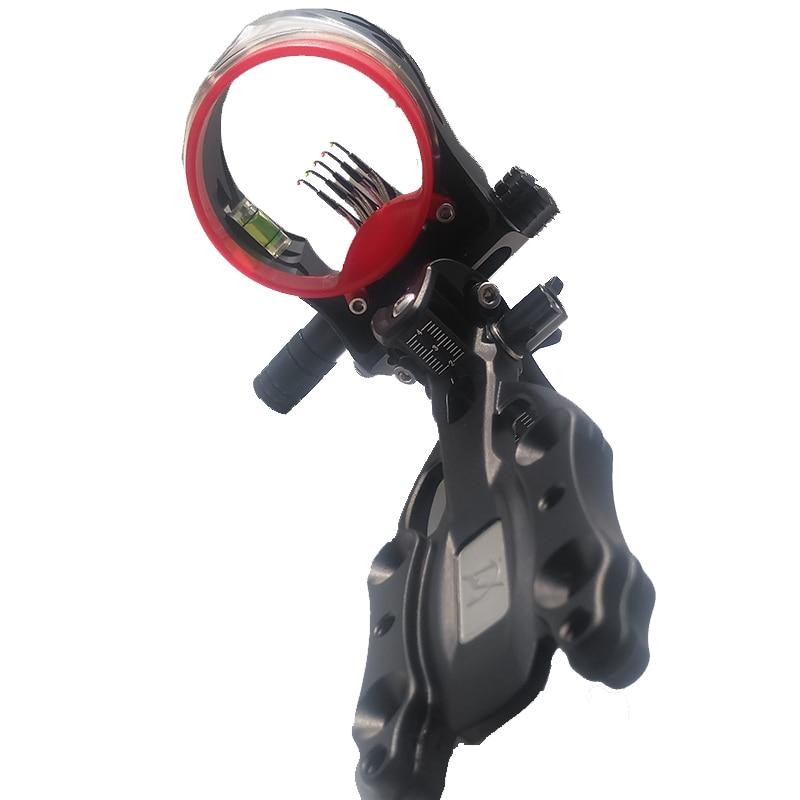 цены 1pc Archery Compound Bow Sight 5 Pin 0.019