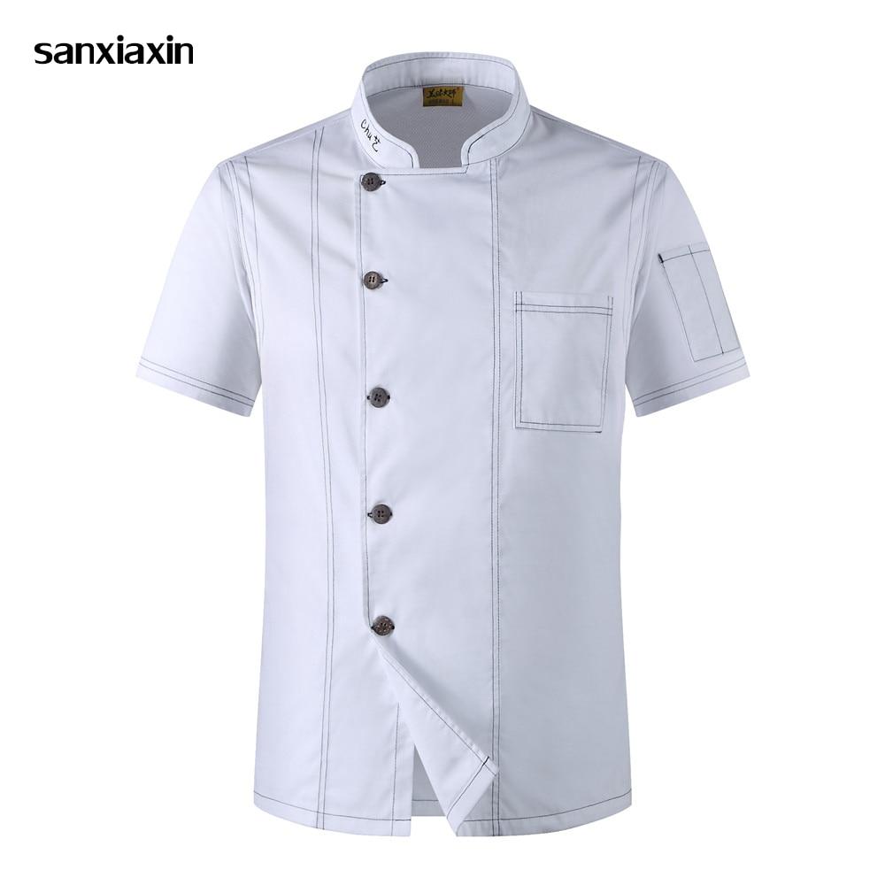 Chef Jacket Hotel Chef's Uniform Short Sleeve Mesh Breathable Workwear Catering Restaurant Kitchen Bakery Shirt  Wholesale Chef