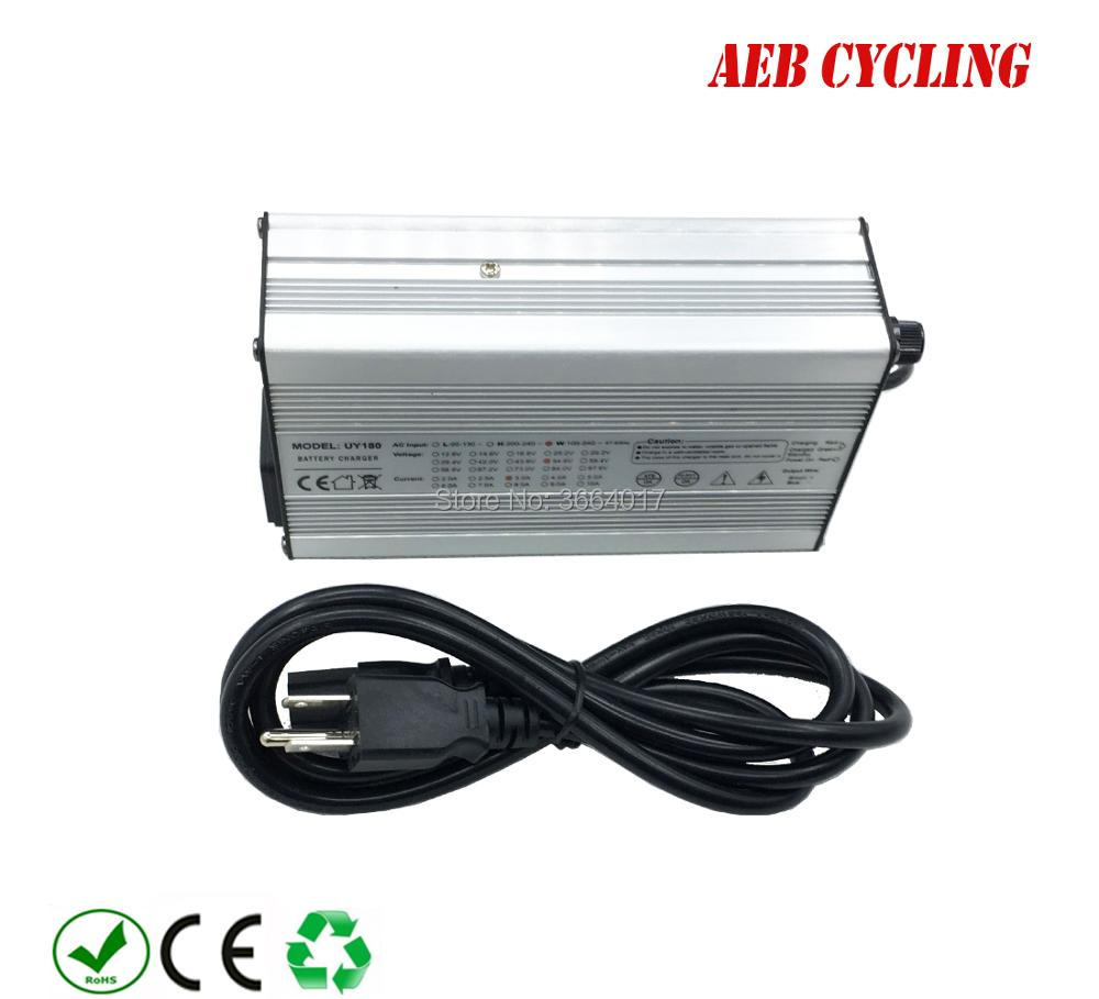 Free shipping 52V battery charger Li ion 58 8V 3A battery charger for 52V down tube