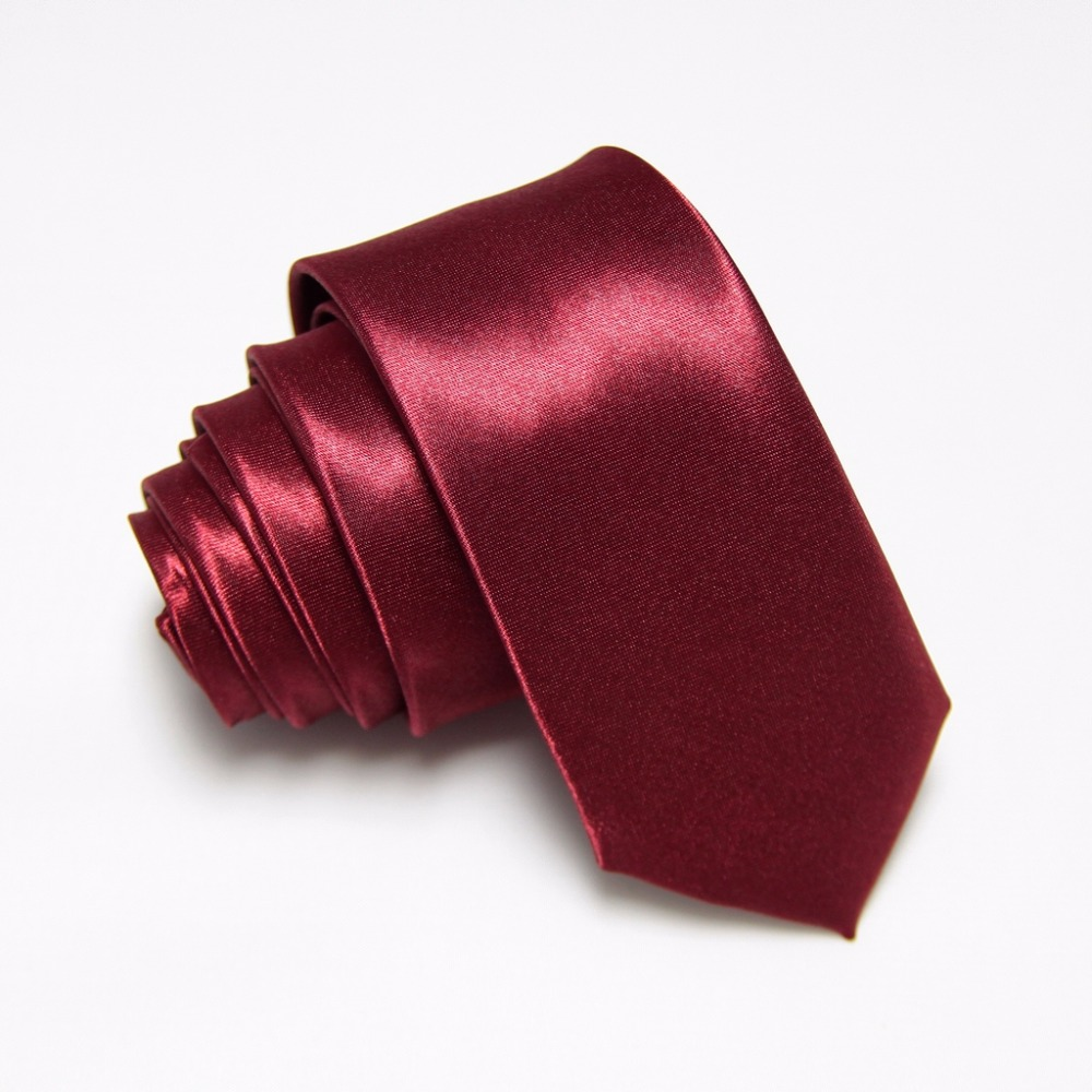 HOOYI 2019 Solid Slim Fashion Ties For Men Narrow Necktie Polyester 36colors