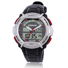XONIX Brands Unique Vogue Men Swimming Digital LCD Quartz Outdoor Sports Watches Relogio Masculino Clock DG