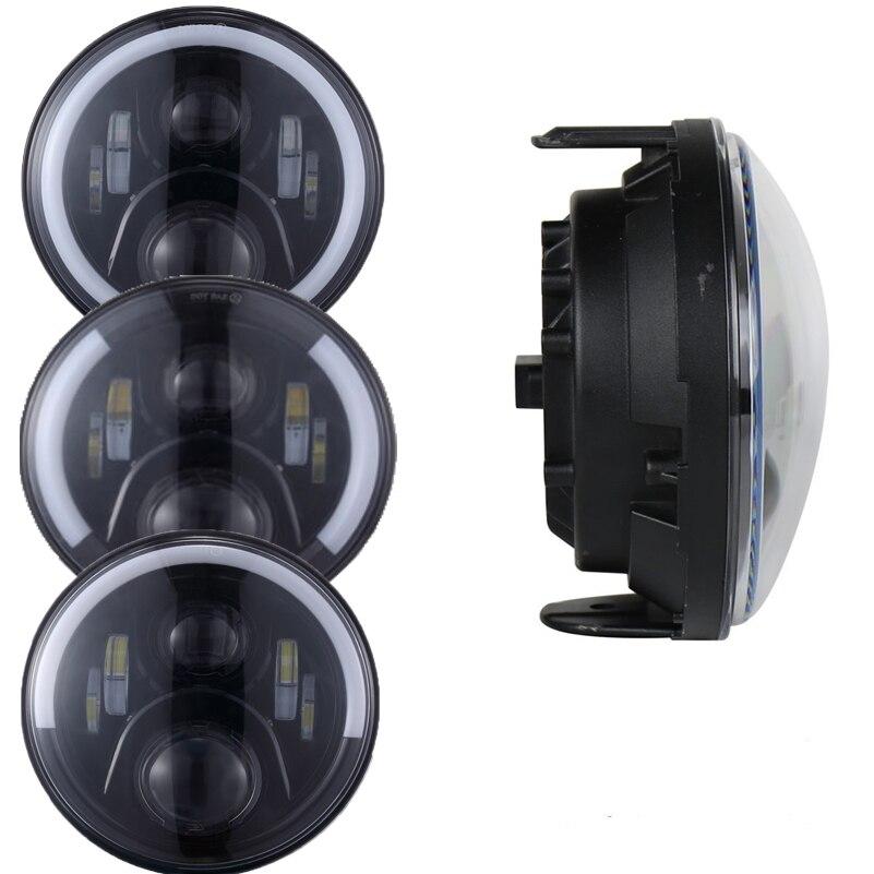 7 pouces phares ronds moto projecteur phare LED avec DRL Angel eye halo phare pour Honda CB 400 500 1300 frelon 250